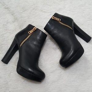 *(🌟J) ALDO Black Faux Leather Bootie